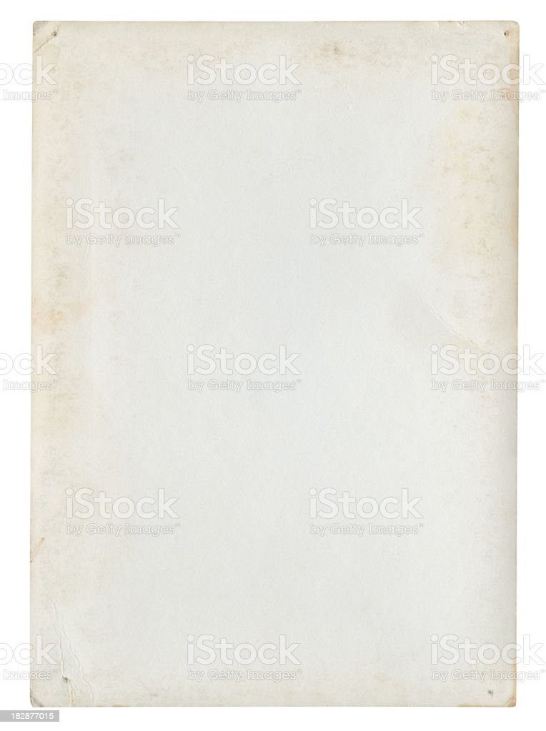 Blank paper background isolated (Clipping path included) stock photo