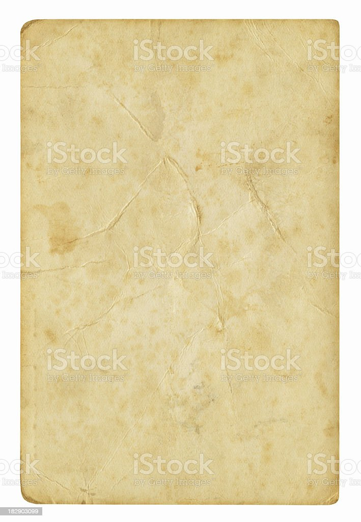 Blank paper background isolated (Clipping path included) royalty-free stock photo