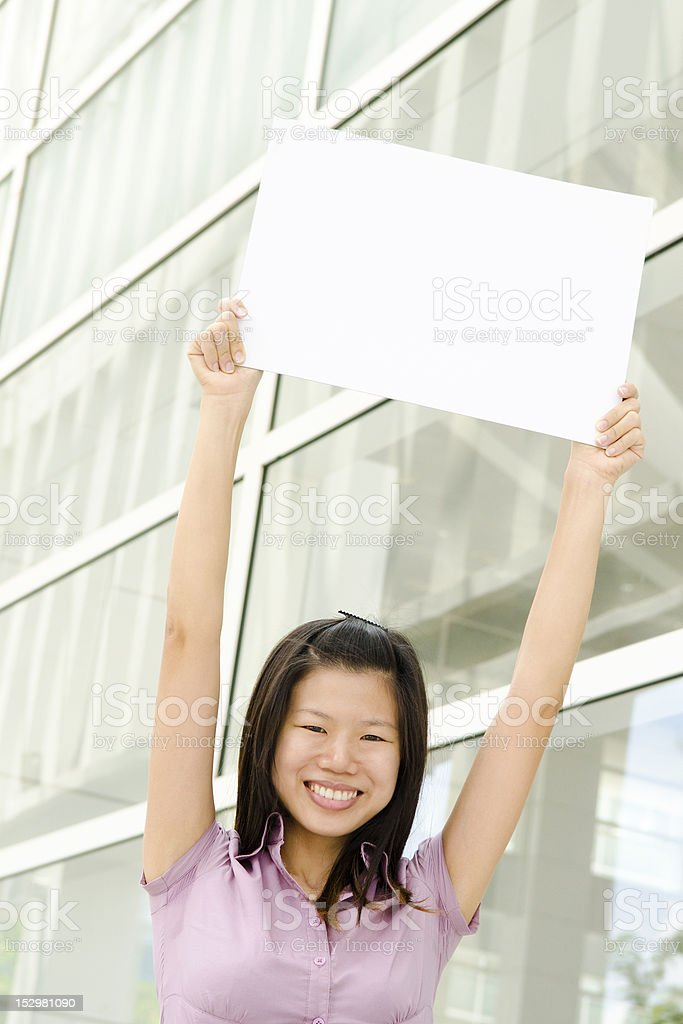 Blank paper for advertisement royalty-free stock photo