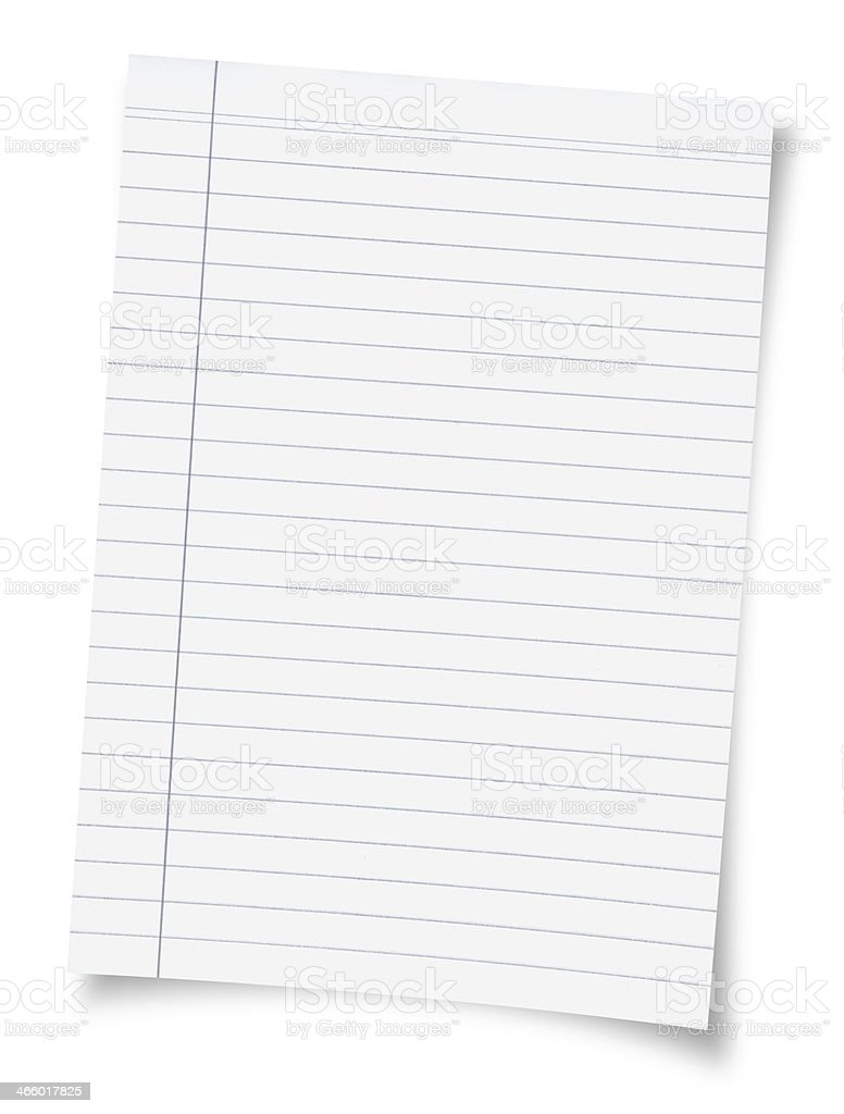 Blank paper isolated on white royalty-free stock photo