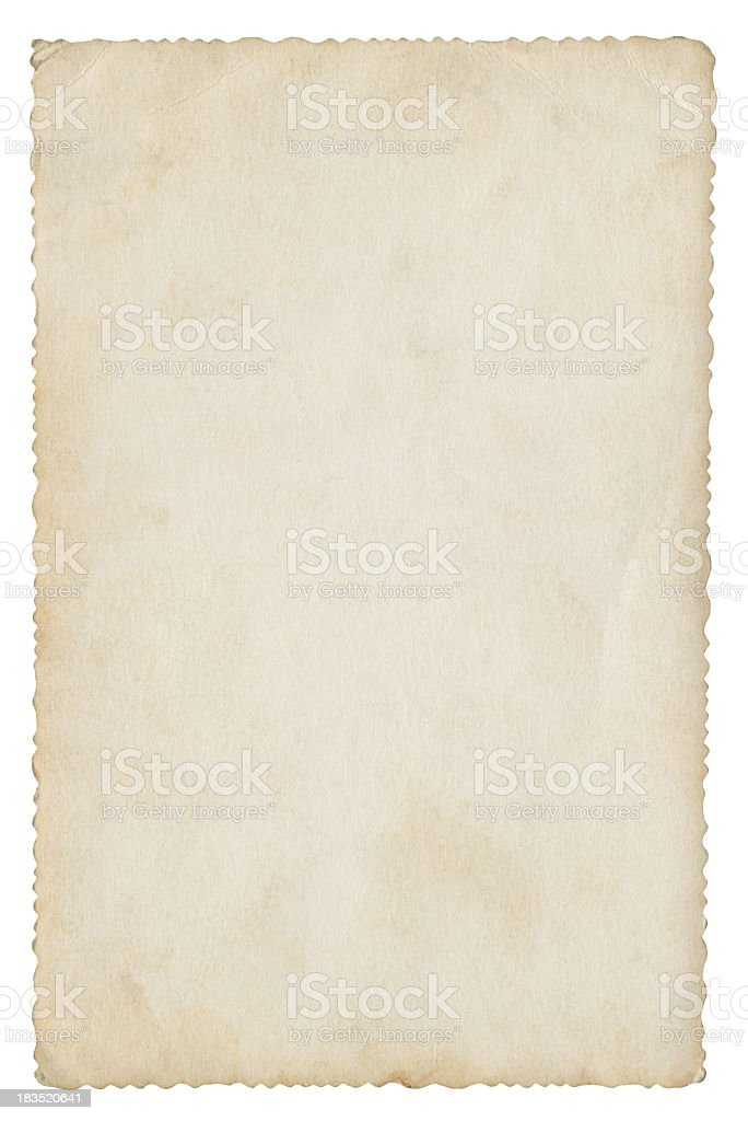 Blank paper isolated (clipping path included) royalty-free stock photo