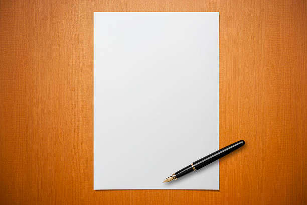 Blank Sheet Of Paper Pictures, Images And Stock Photos