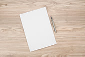 blank paper on the table