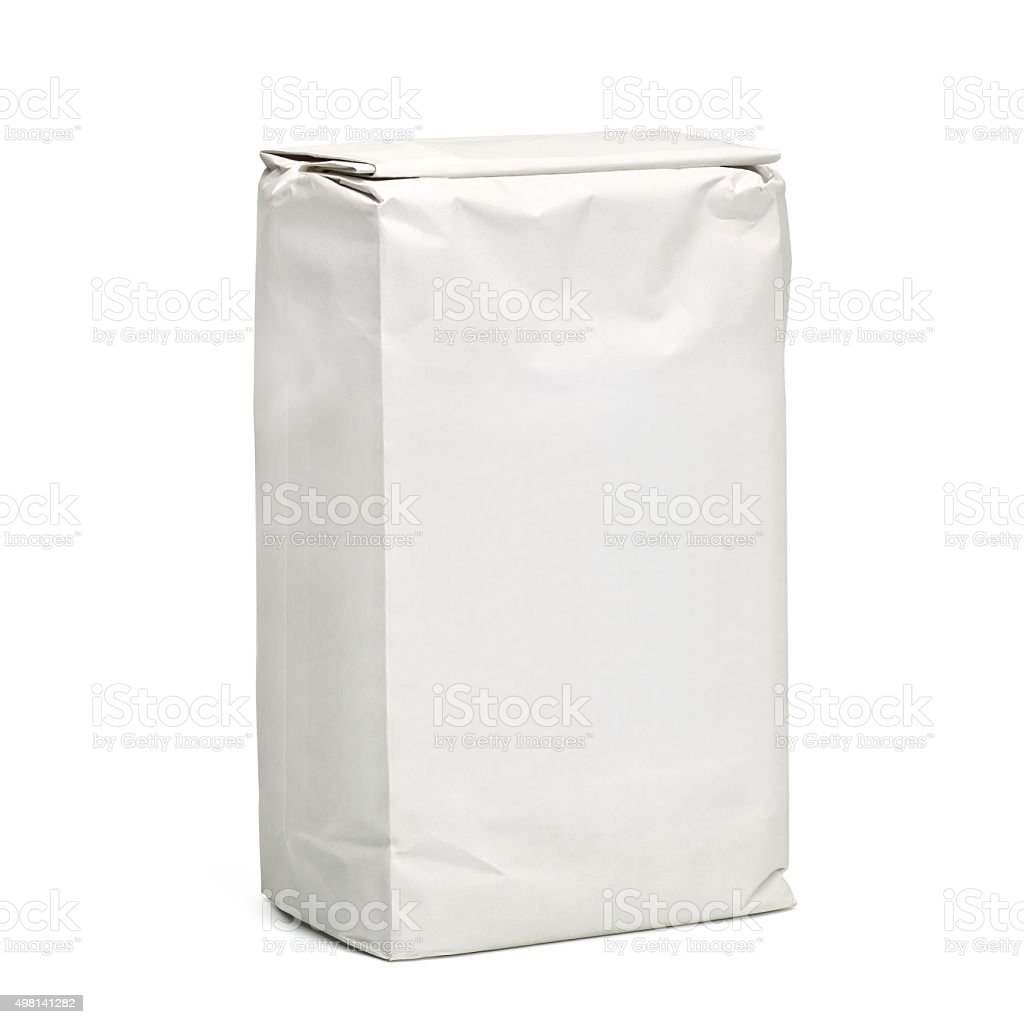 Blank paper package stock photo