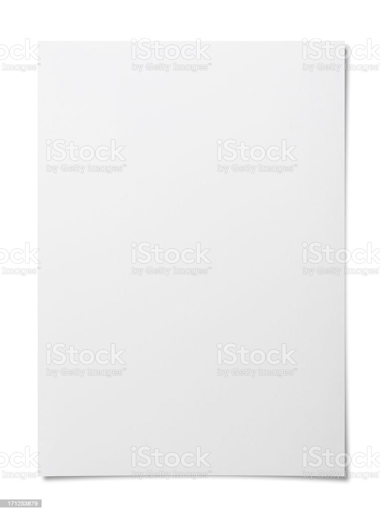 Blank paper stock photo