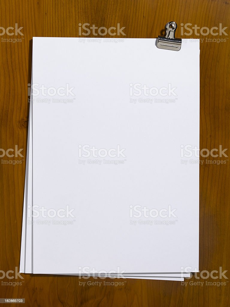 blank paper royalty-free stock photo