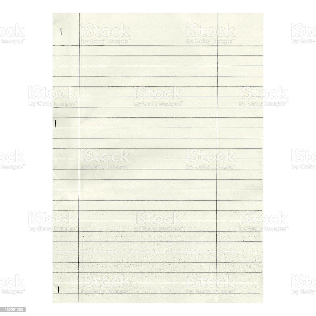 Blank paper stock photo