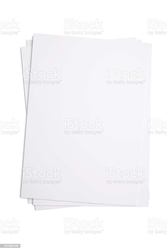 A4 Blank paper stock photo