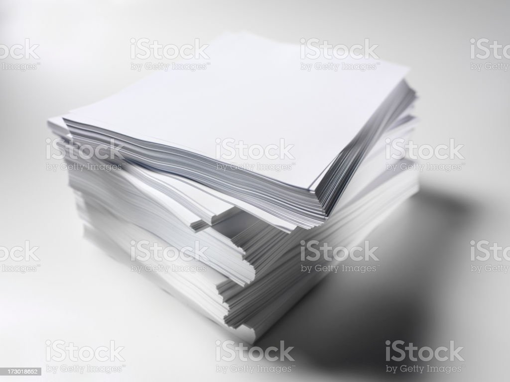 Blank Paper Pile royalty-free stock photo