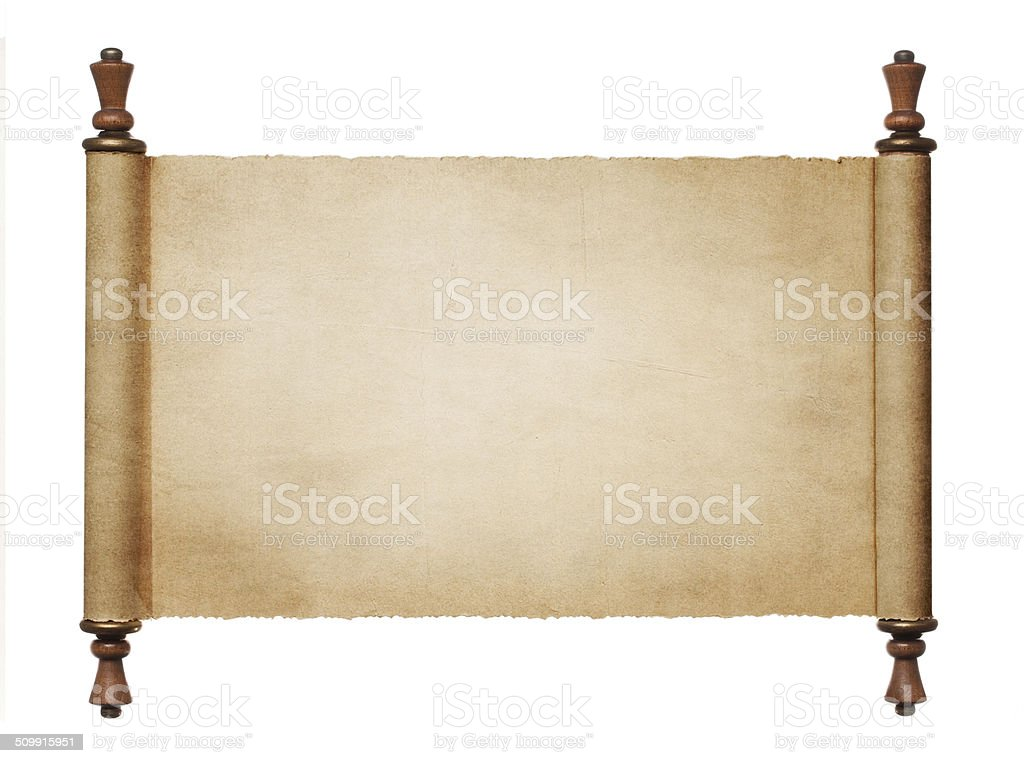Blank paper scroll stock photo