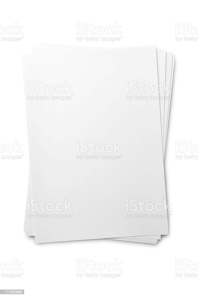Blank paper sheet on white stock photo