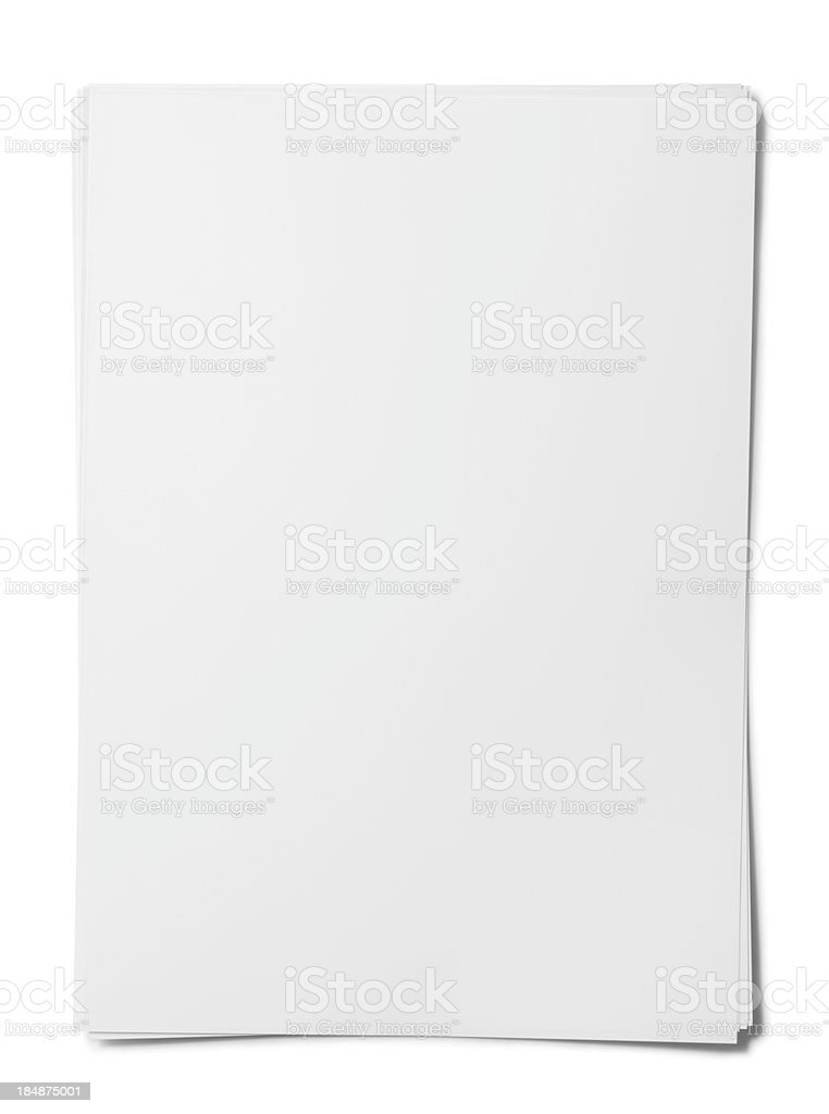 Blank paper sheet. stock photo