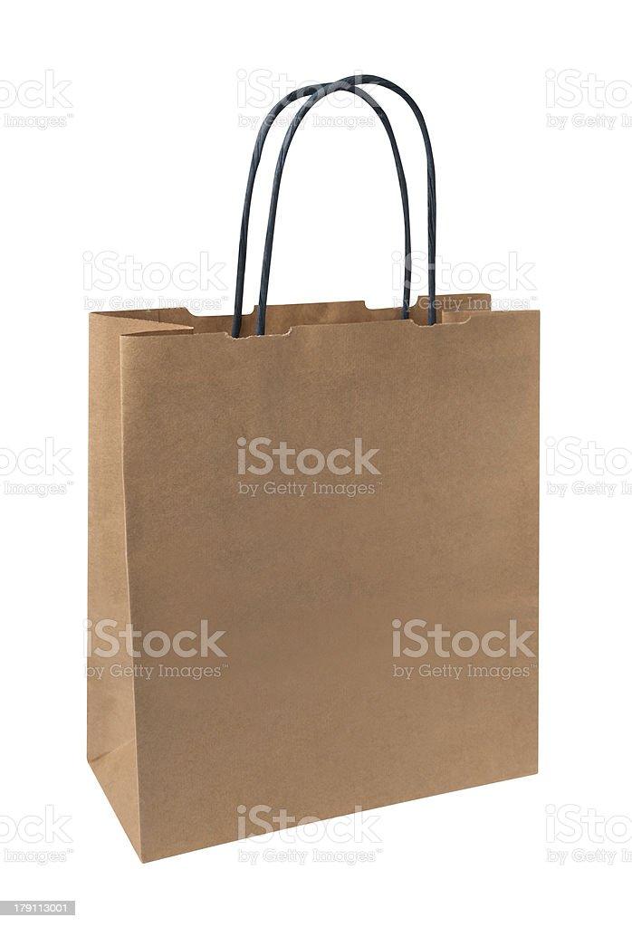 Blank paper shopping bag royalty-free stock photo