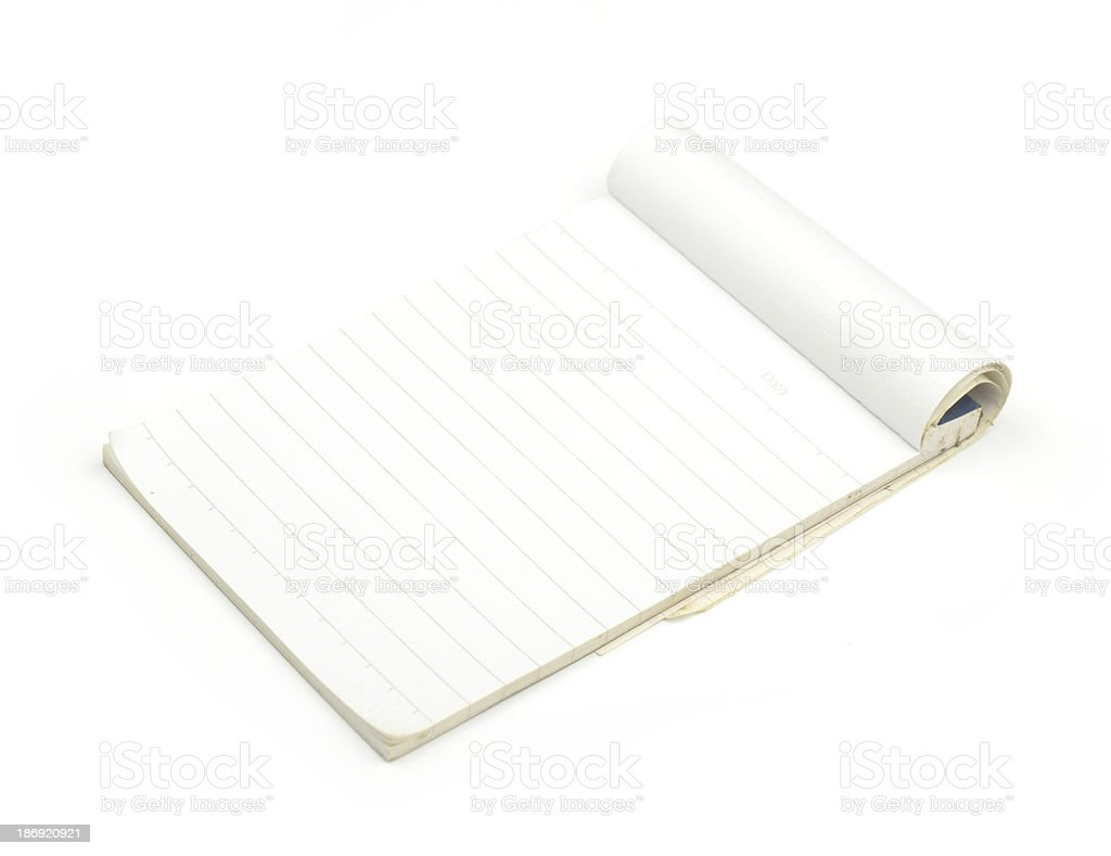 blank Paper tablet royalty-free stock photo