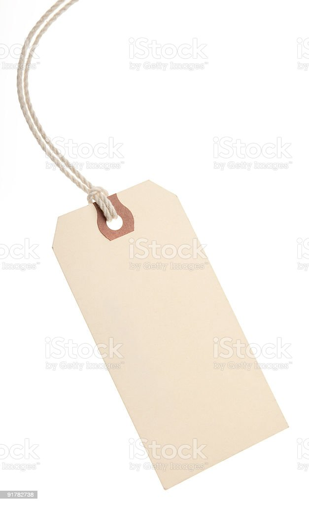 Blank Paper Tag stock photo