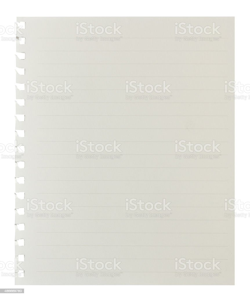 Blank Paper with Lined Background stock photo