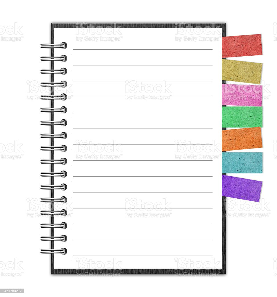 Blank Paper with Notebook and reminder note royalty-free stock photo
