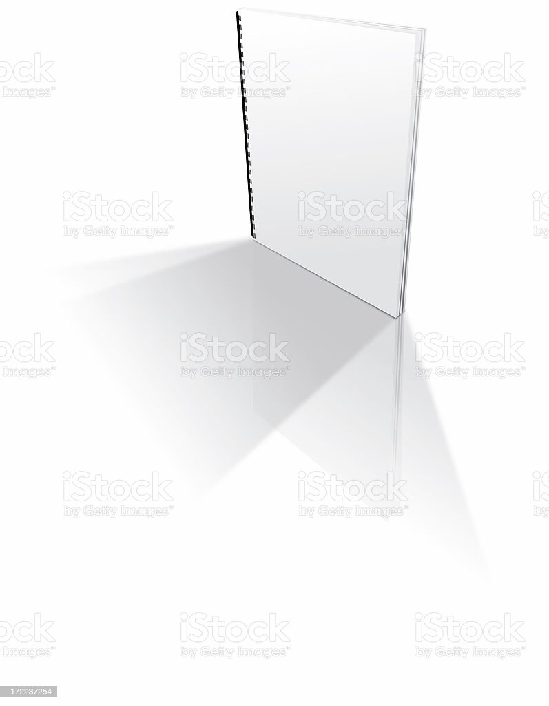 Blank paperback ring-bound pamphlet royalty-free stock photo