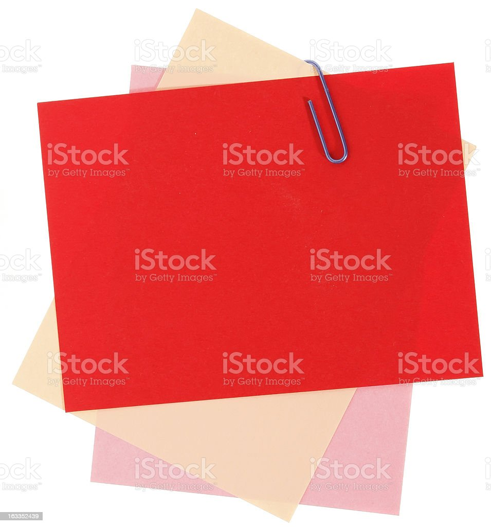 Blank papers for note royalty-free stock photo