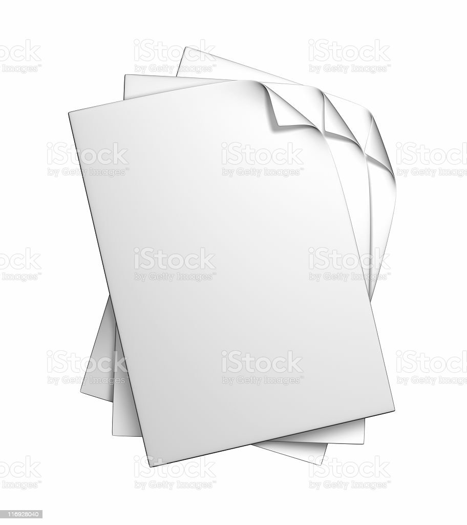 blank papers royalty-free stock photo
