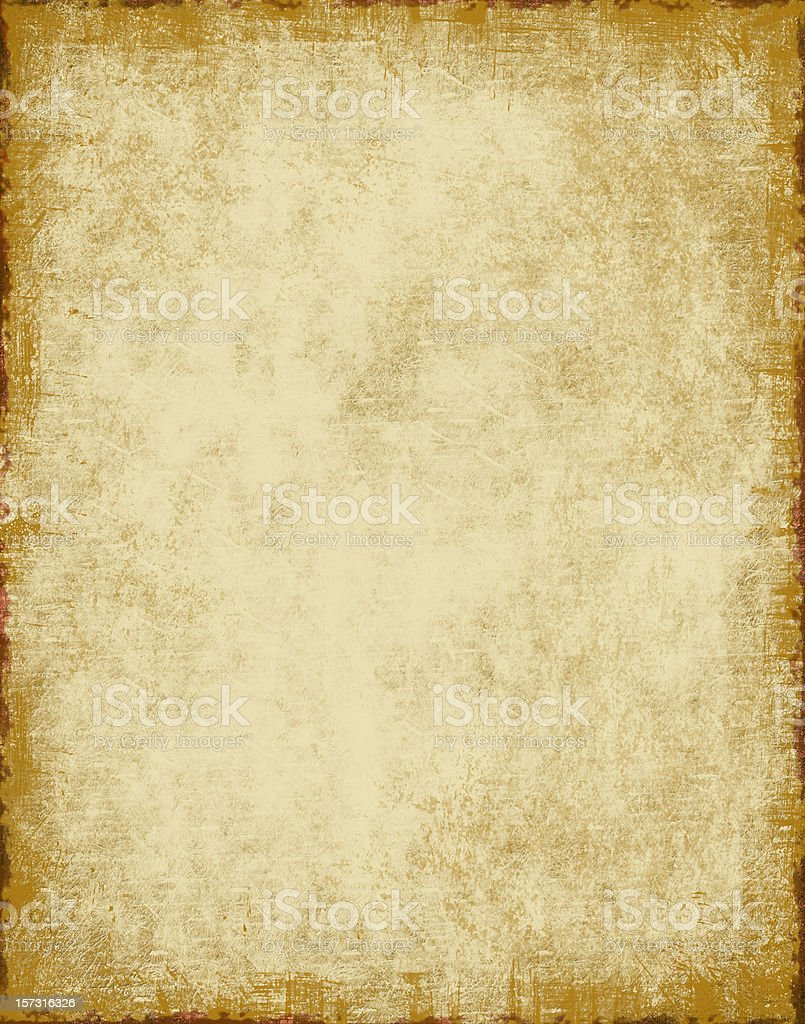 Blank parchment background paper with grungy edges XL stock photo