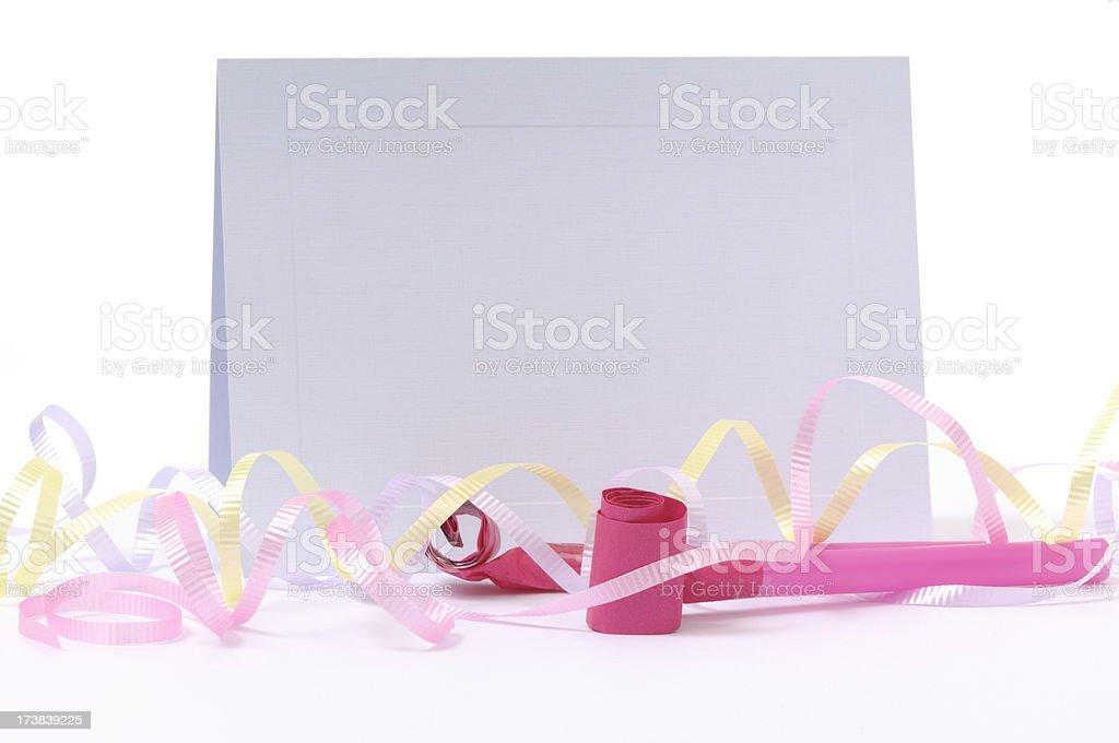Blank Party Invitation stock photo