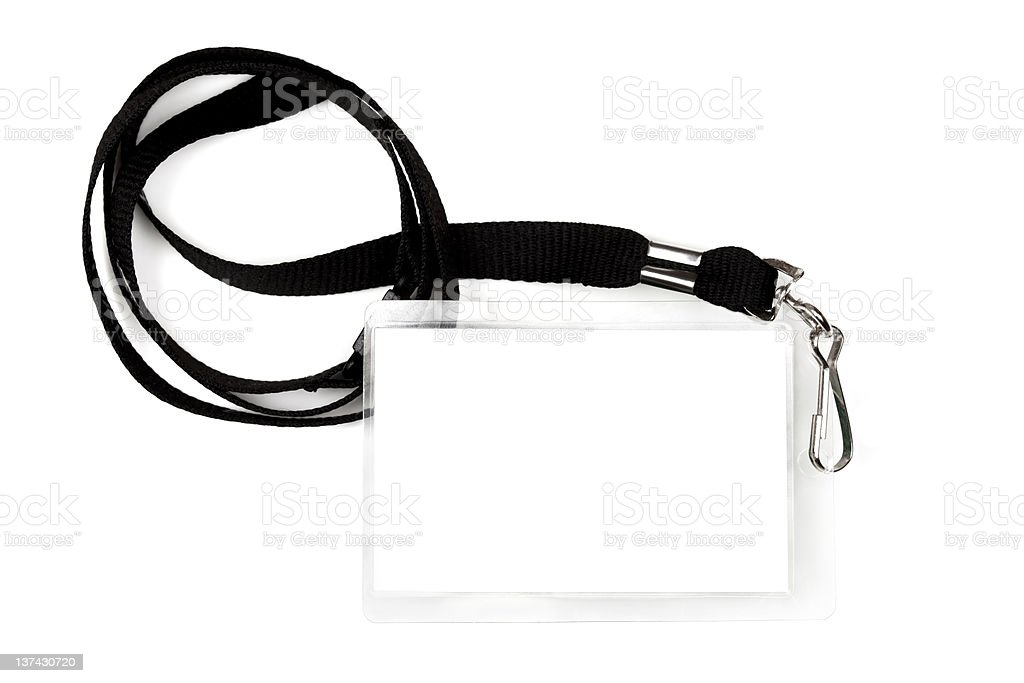 Blank Pass on Lanyard stock photo