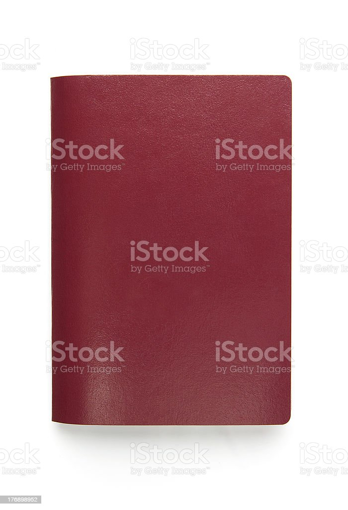 Blank passport isolated on white royalty-free stock photo