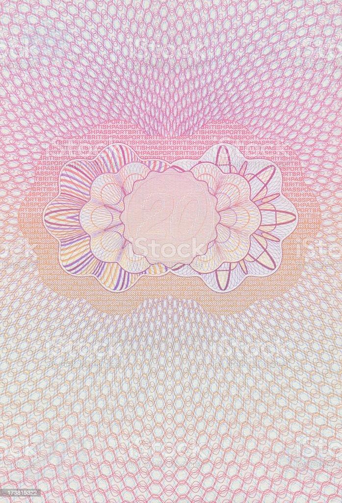 Blank Passport Page stock photo