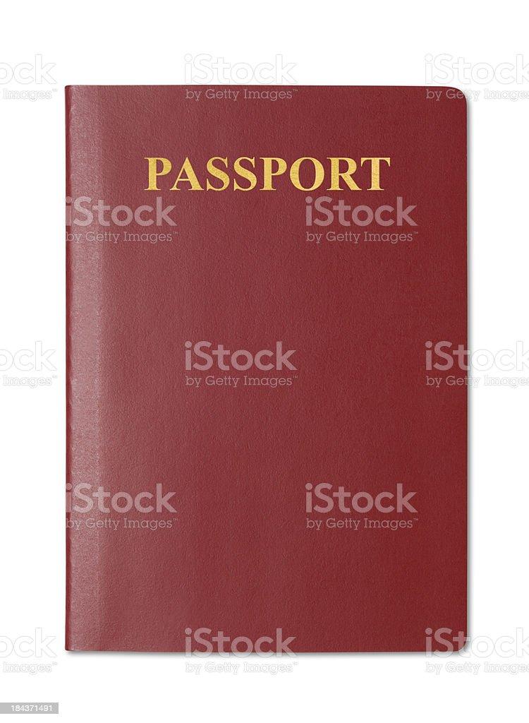 Blank Passport royalty-free stock photo