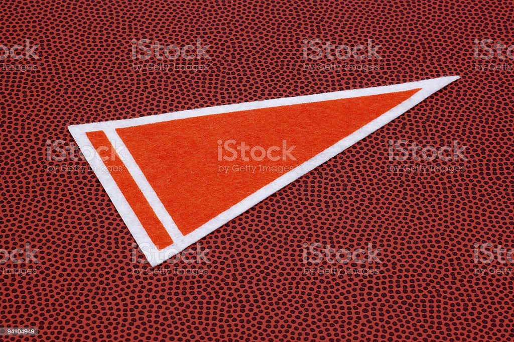 Blank Pennant royalty-free stock photo