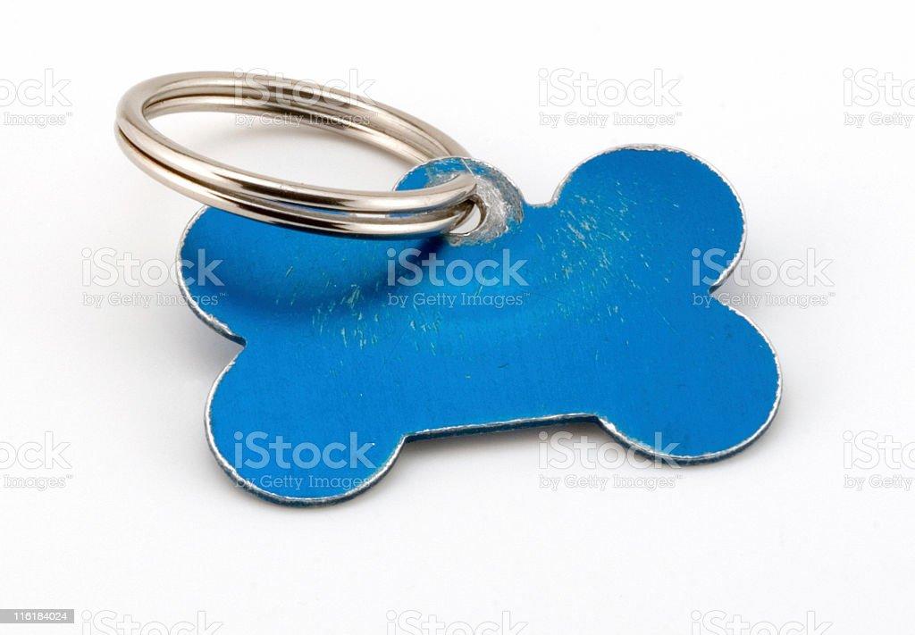 Blank Pet ID tag royalty-free stock photo