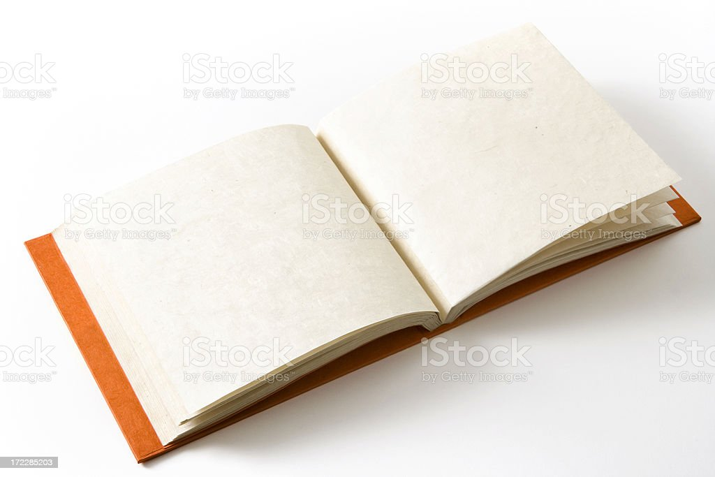 Blank photo album royalty-free stock photo