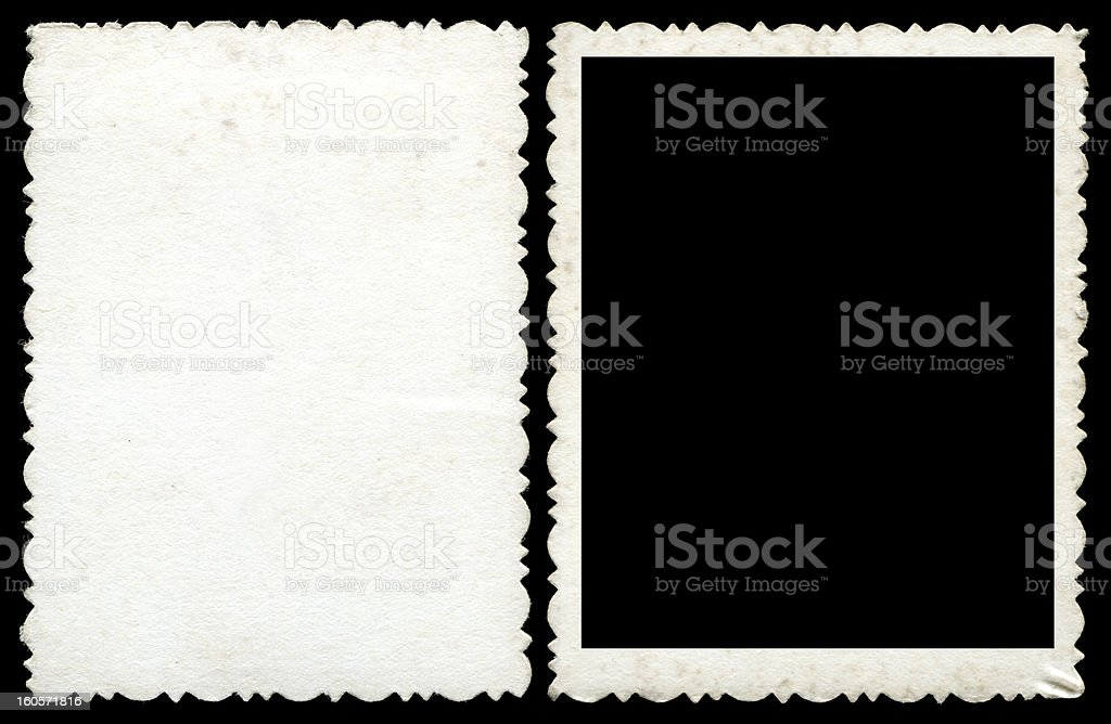 Blank photo frame & background textured stock photo