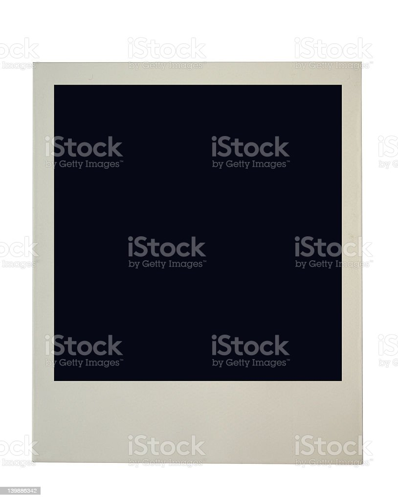 blank photo frame on pure white background stock photo