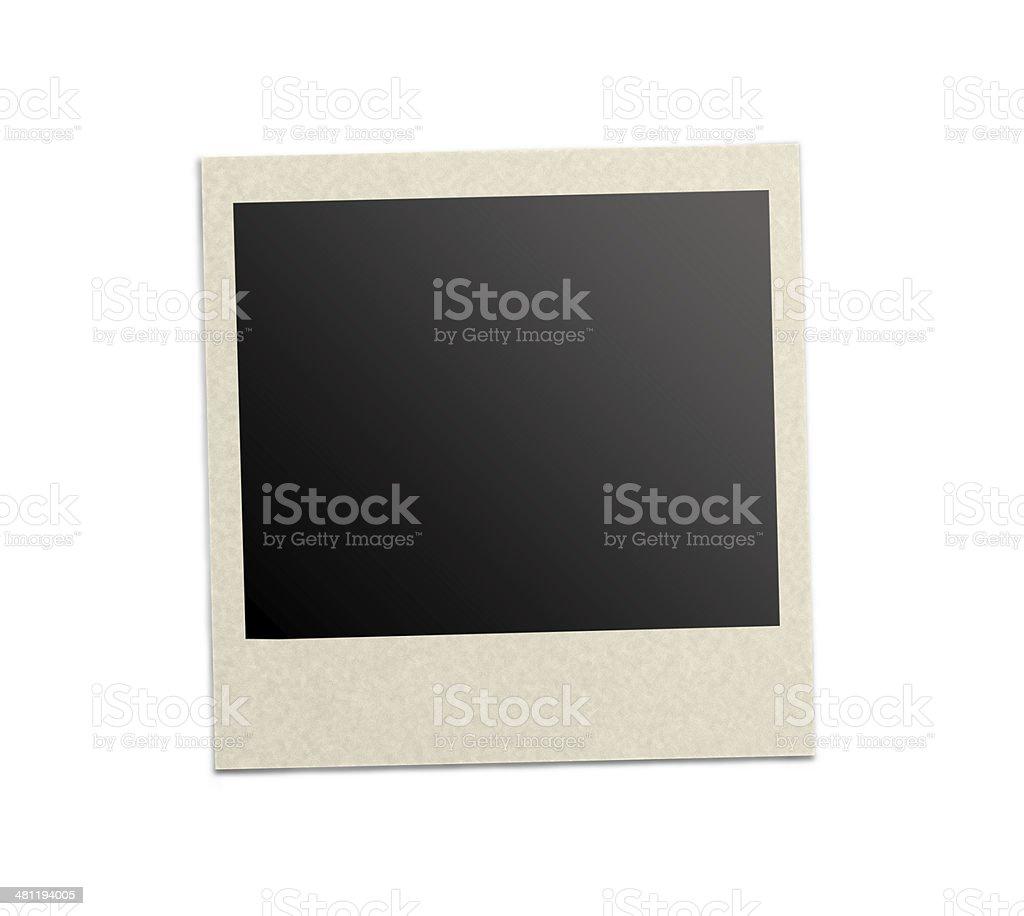 Blank photo frame on white background stock photo