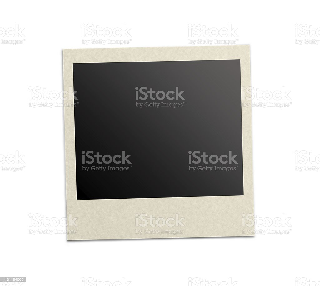 Blank photo frame on white background stock photo