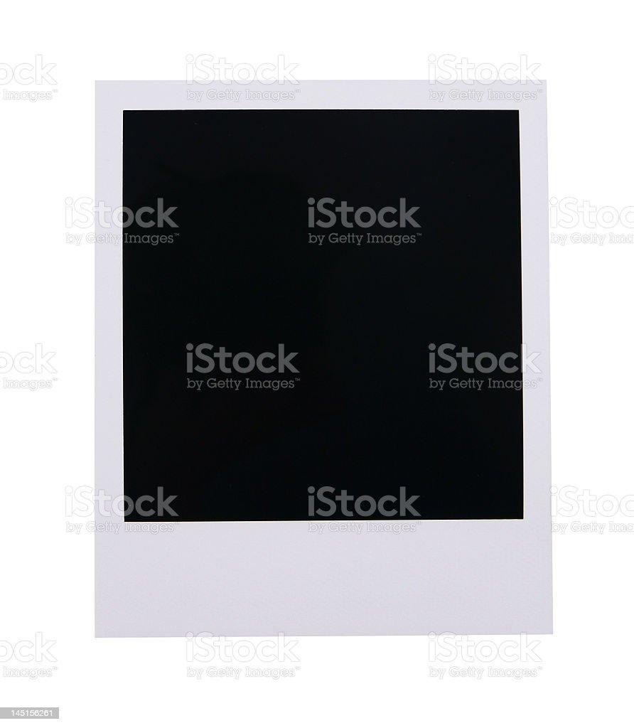 Blank photo frame royalty-free stock photo