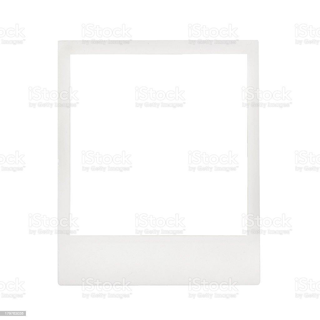 Blank photo frame stock photo