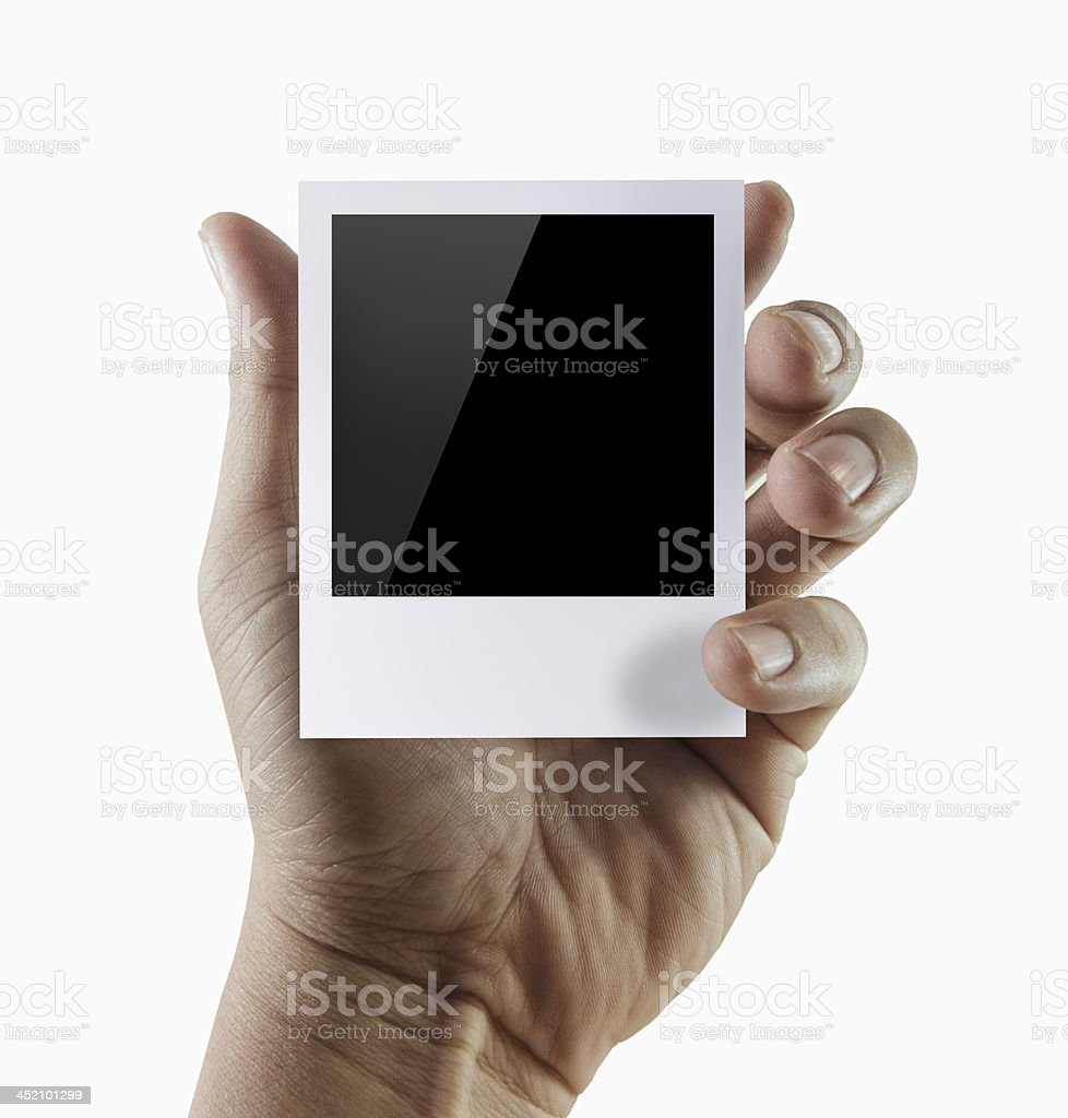 blank photo frame royalty-free stock photo