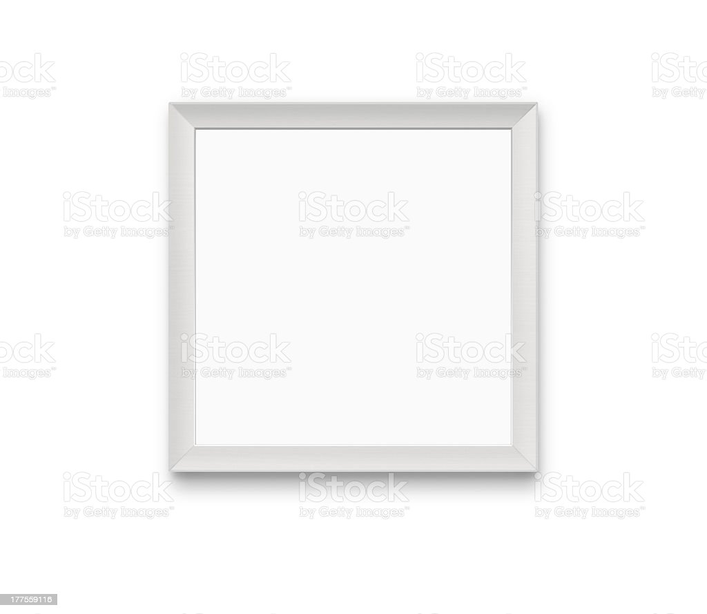 Blank photo frame with clipping path stock photo