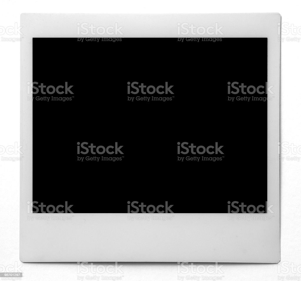 Blank Photo Frame with Clipping Path royalty-free stock photo
