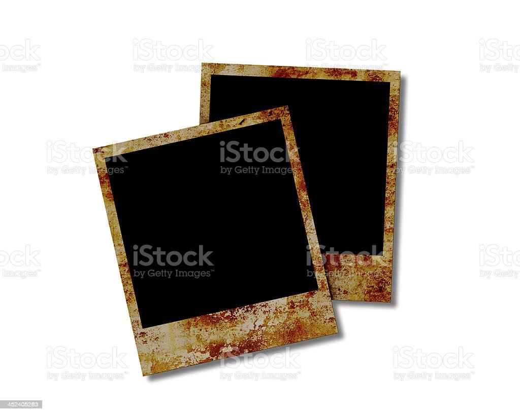 Blank photo frames on white background royalty-free stock photo