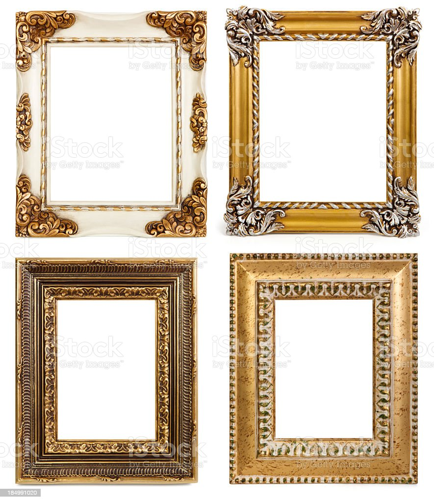 Blank photo frames stock photo