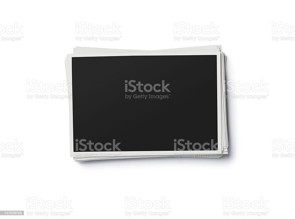 Blank photo frames with clipping path stock photo
