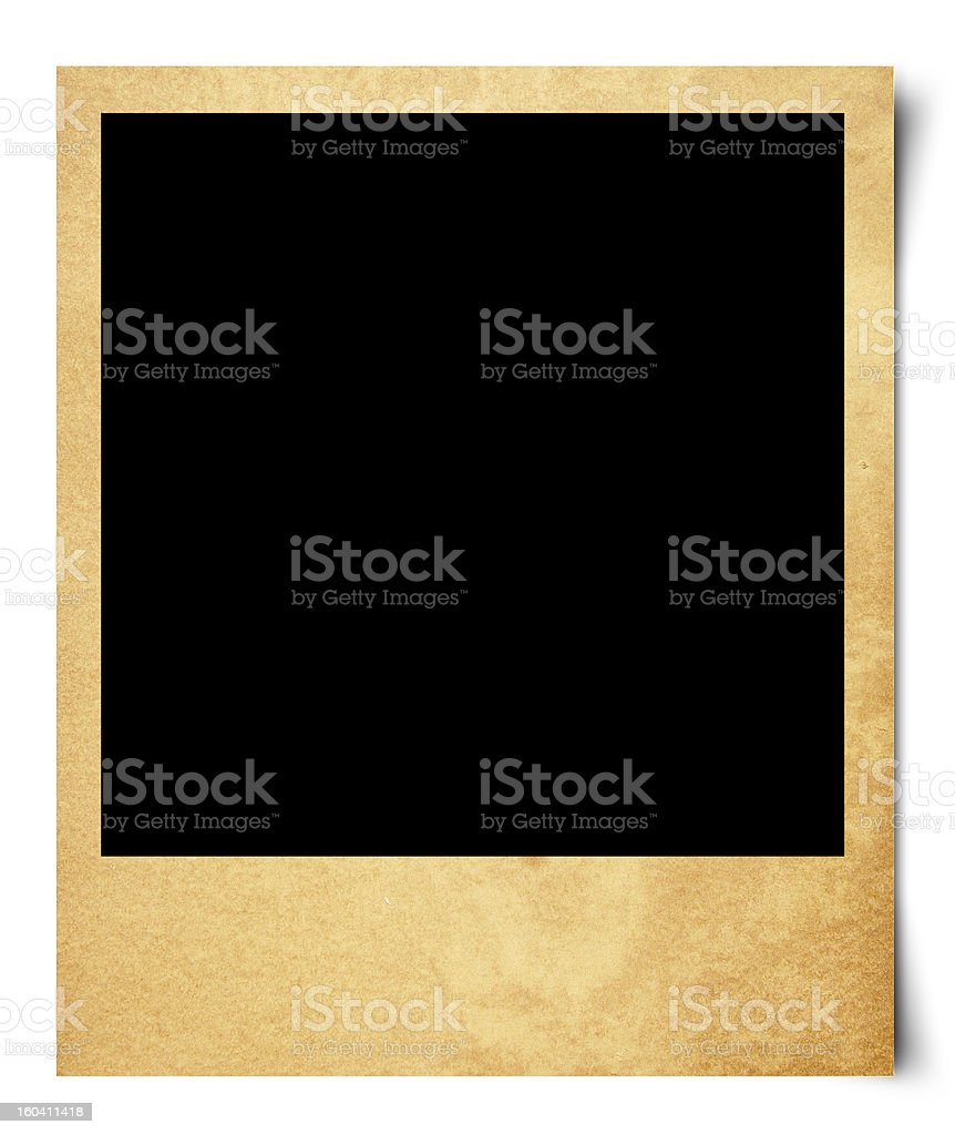 Blank photo isolated on old paper royalty-free stock photo
