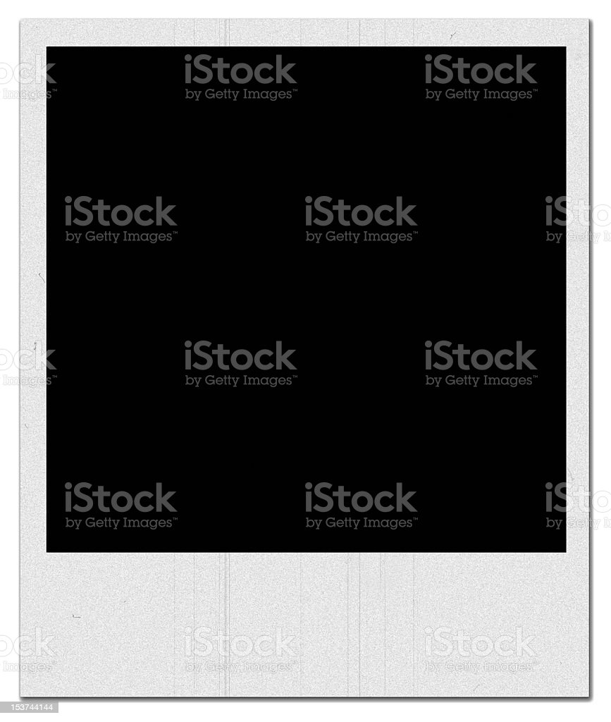 Blank Photo, Old-Fashioned Effect stock photo