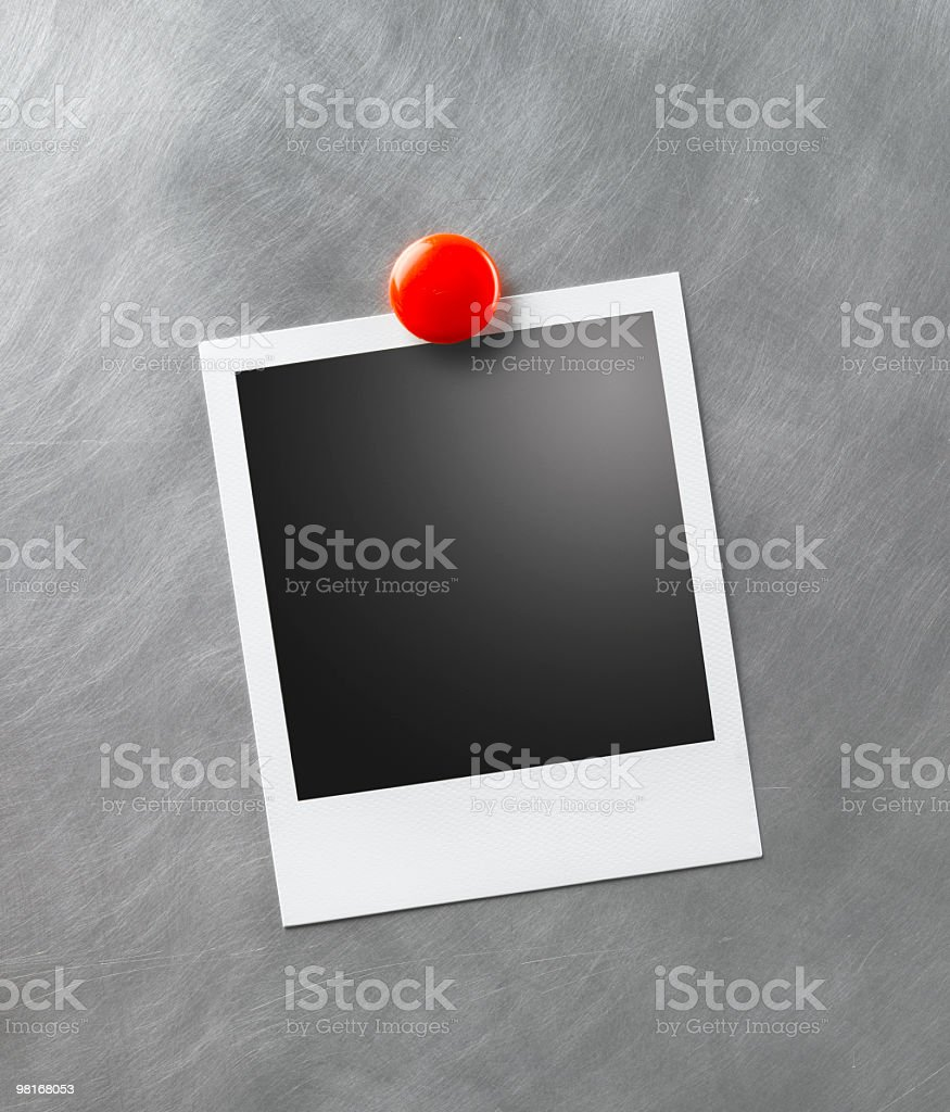 Blank Photo on Metal Suface royalty-free stock photo