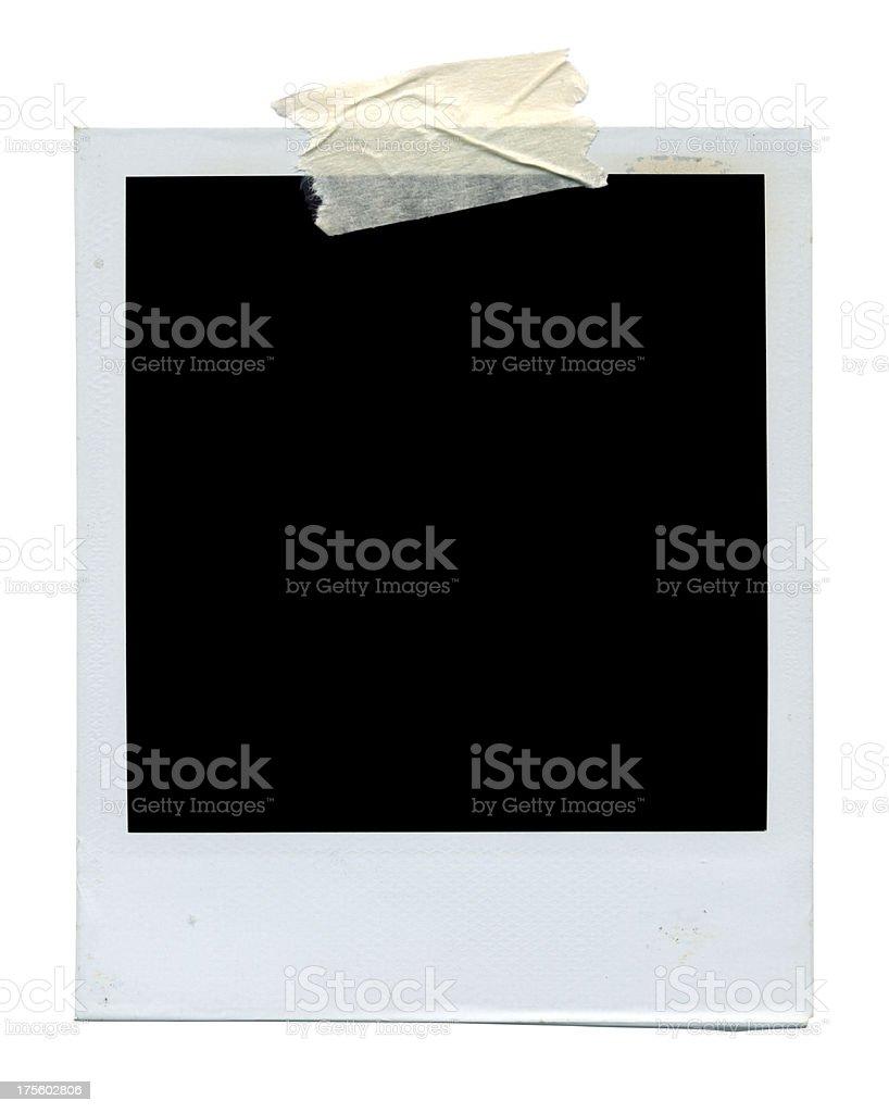 Blank photo on white royalty-free stock photo