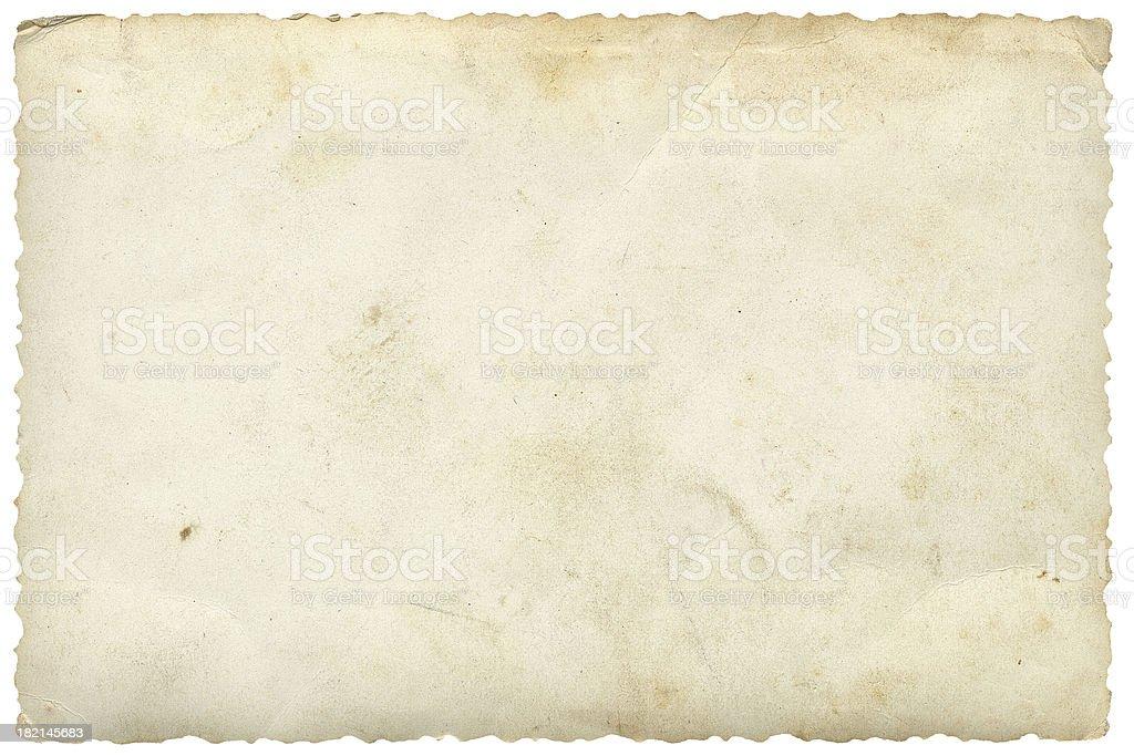 Blank Photo on White stock photo